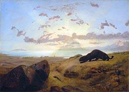 Gerome   Black Panther Stalking a Herd of Deer, 1851   Giclée Canvas Print