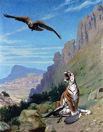 Gerome | Tiger and Vulture, undated | Giclée Canvas Print