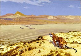 Gerome | Tiger on the Watch, c.1888 | Giclée Canvas Print