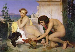 Gerome | Young Greeks Encouraging Cocks to Fight, 1846 | Giclée Canvas Print