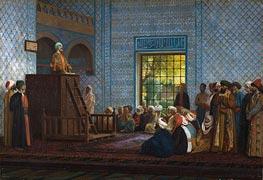 Gerome | Sermon in the Mosque, 1903 | Giclée Canvas Print