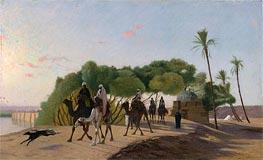 Gerome | Leaving the Oasis, c.1880/90 | Giclée Canvas Print