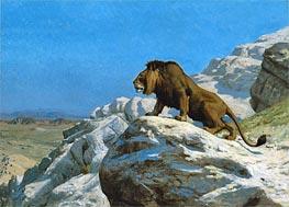 Gerome   Lion on the Watch, c.1885   Giclée Canvas Print