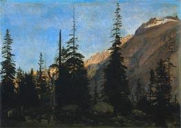 Gerome   Alpine Landscape: The Handegg, Switzerland, c.1850   Giclée Canvas Print