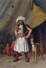 Gerome   A Bashi-Bazouk and His Dog, undated   Giclée Canvas Print