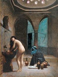 Gerome   Moorish Bath (Turkish Woman Bathing), c.1870   Giclée Canvas Print