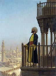 Gerome   The Muezzin, undated   Giclée Canvas Print