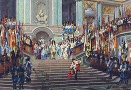 Gerome   The Reception of the Grand Conde at Versailles, 1878   Giclée Canvas Print