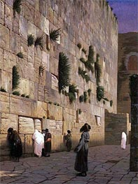 Gerome   Solomon's Wall Jerusalem (The Wailing Wall), undated   Giclée Canvas Print