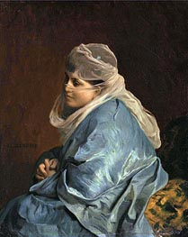 Gerome   Woman of Constantinople, undated   Giclée Canvas Print