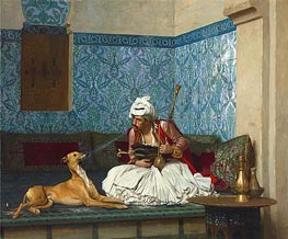 Gerome   A Joke (Arnaut Blowing Tobacco Smoke at the Nose of His Dog), 1882   Giclée Canvas Print