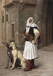 Gerome   Arnaut with Two Whippets Dogs, 1867   Giclée Canvas Print