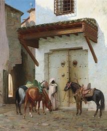 Gerome   Horses Kept by a Slave, 1875   Giclée Canvas Print