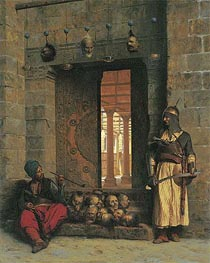 Gerome | The Doorway to the Mosque El Assaneyn in Cairo where the heads of the Rebel Beys were exposed by Salek-Kachef, 1866 | Giclée Canvas Print