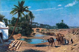 Gerome | An Arab Caravan, undated | Giclée Canvas Print