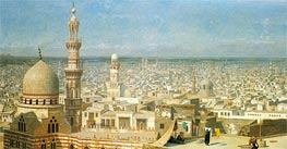 Gerome | View of Cairo, 1891 | Giclée Canvas Print