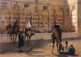 Gerome | Camels at the Watering Place, 1894 | Giclée Canvas Print