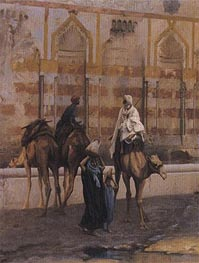 Gerome | Camels at the Watering Place (Detail), 1894 | Giclée Canvas Print