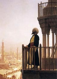 Gerome | Le Muezzin (The Call to Prayer), 1866 | Giclée Canvas Print