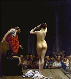 Gerome | A Roman Slave Market, c.1884 | Giclée Canvas Print