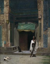 Gerome | Portal of the Green Mosque (Sentinel at the Sultan's Tomb), c.1870 | Giclée Canvas Print