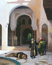 Gerome | The Accursed Lion, undated | Giclée Canvas Print