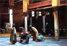 Gerome | Prayer in a Mosque, 1892 | Giclée Canvas Print