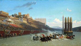 Gerome | Chariot Race (Circus Maximus), 1876 | Giclée Canvas Print