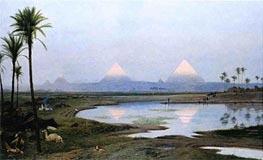 Gerome | The Pyramids, Sunrise, 1895 | Giclée Canvas Print