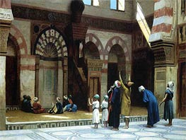 Gerome | Prayer in the Mosque of Caid Bey in Cairo, 1895 | Giclée Canvas Print