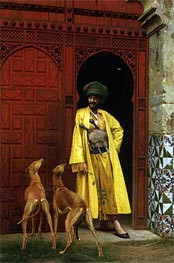 Gerome | An Arab and His Dogs, 1875 | Giclée Canvas Print