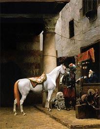 Gerome | The Saddle Bazaar, Cairo (Arab Purchasing a Bride), 1881 | Giclée Canvas Print
