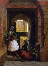 Gerome | Arnauts of Cairo at the Gate of Bab el Nasr, 1861 | Giclée Canvas Print