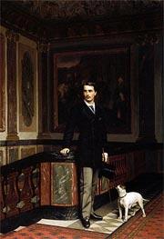 Gerome | Duc de la Rochefoucauld Doudeauville with His Terrier, 1875 | Giclée Canvas Print
