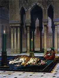 Gerome | Pain of the Pasha - the Dead Tiger, 1885 | Giclée Canvas Print
