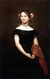 Gerome | Portrait of Mademoiselle Durand, 1853 | Giclée Canvas Print