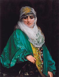Gerome | Woman from Constantinople, 1876 | Giclée Canvas Print