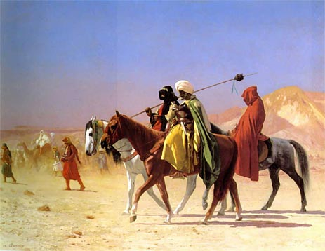 Arabs Crossing the Desert, 1870 | Gerome | Painting Reproduction