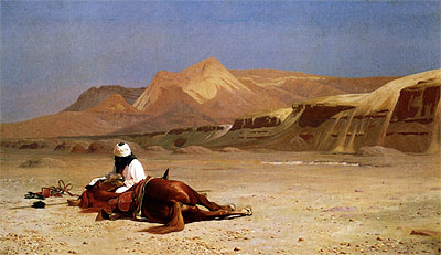 The Arab and his Steed (In the Desert), 1872 | Gerome | Painting Reproduction