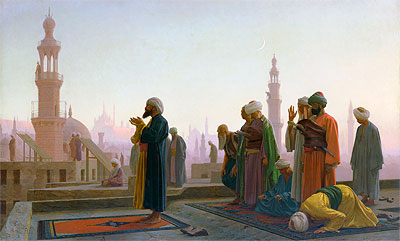 Prayer in Cairo (Prayer on the Rooftops of Cairo), 1865 | Gerome | Painting Reproduction
