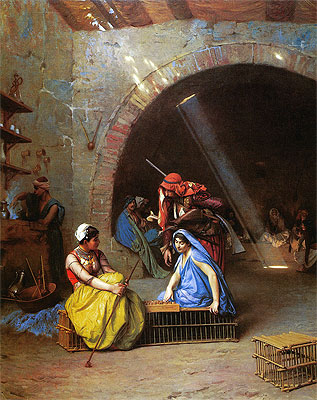 Almehs Playing Chess in a Cafe, 1870   Gerome   Painting Reproduction
