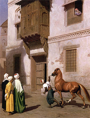 Cairene Horse Dealer (The Horse Market), 1867 | Gerome | Painting Reproduction