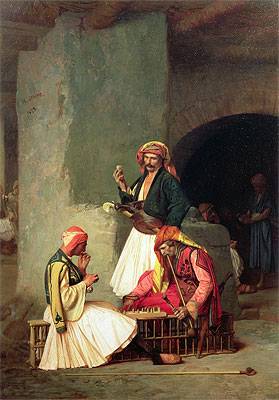 Arnauts Playing Chess (The Draught Players), 1859 | Gerome | Painting Reproduction