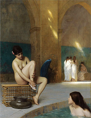 Nude Woman Bathing, c.1889 | Gerome | Painting Reproduction
