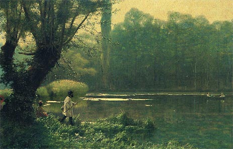 Summer Afternoon on a Lake, c.1895 | Gerome | Painting Reproduction