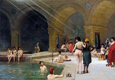 The Grand Bath at Bursa, 1885 | Gerome | Painting Reproduction