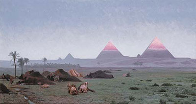 The First Kiss of the Sun (The Pyramids), undated | Gerome | Painting Reproduction