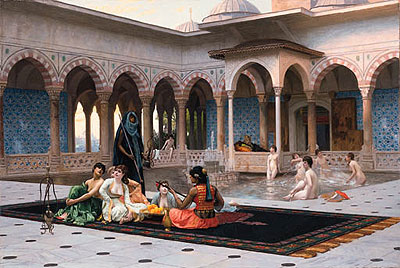 The Terrace of the Seraglio, 1886 | Gerome | Painting Reproduction