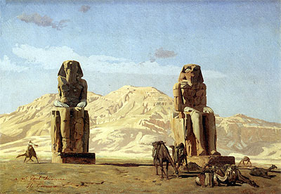 Memnon and Sesostris, 1856   Gerome   Painting Reproduction