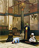 Gerome - Three Worshippers Praying in a Corner of a Mosque - Art Print / Posters